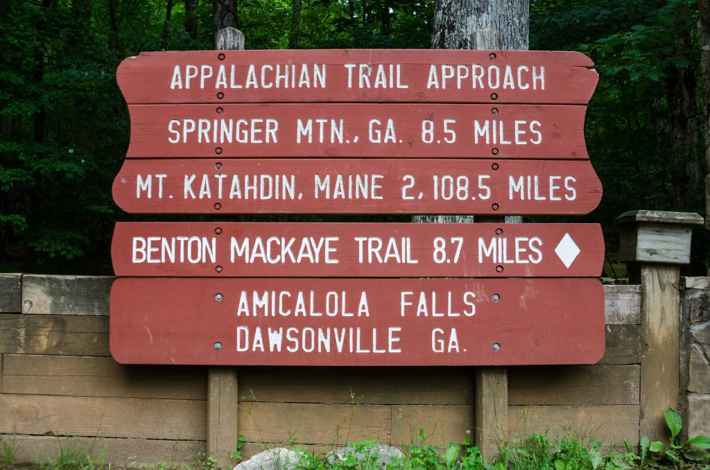 Appalachian Trail sign