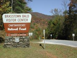 Brasstown Bald sign